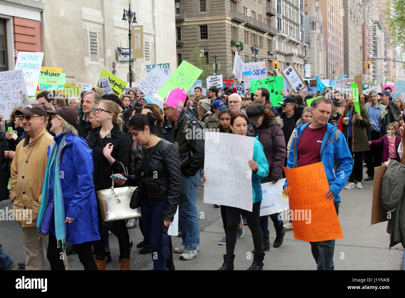 New York, Us. 22nd Apr, 2017. New York, US -  March for Science, was one of several hundred held around the world Stock Photo