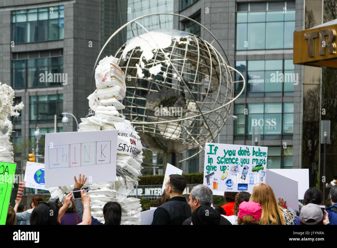 New York, USA. 22nd Apr, 2017. March for Science Credit: Brian D. Bumby/Alamy Live News Stock Photo
