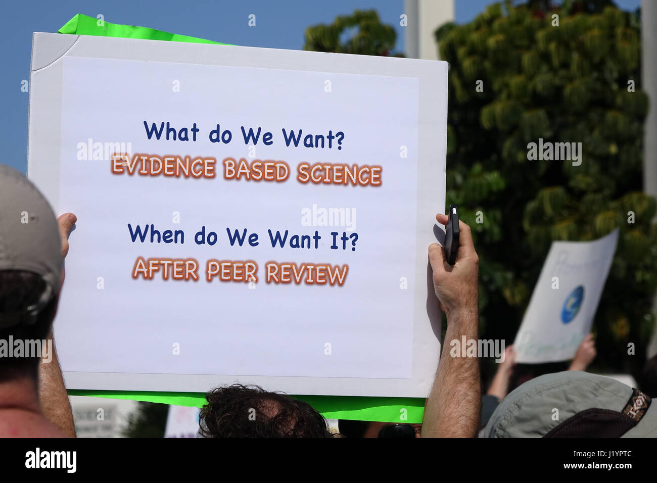 Fullerton, California, USA. 22nd Apr, 2017. Scientists join the worldwide March for Science. Credit: Gary L. Friedman/The Stock Photo