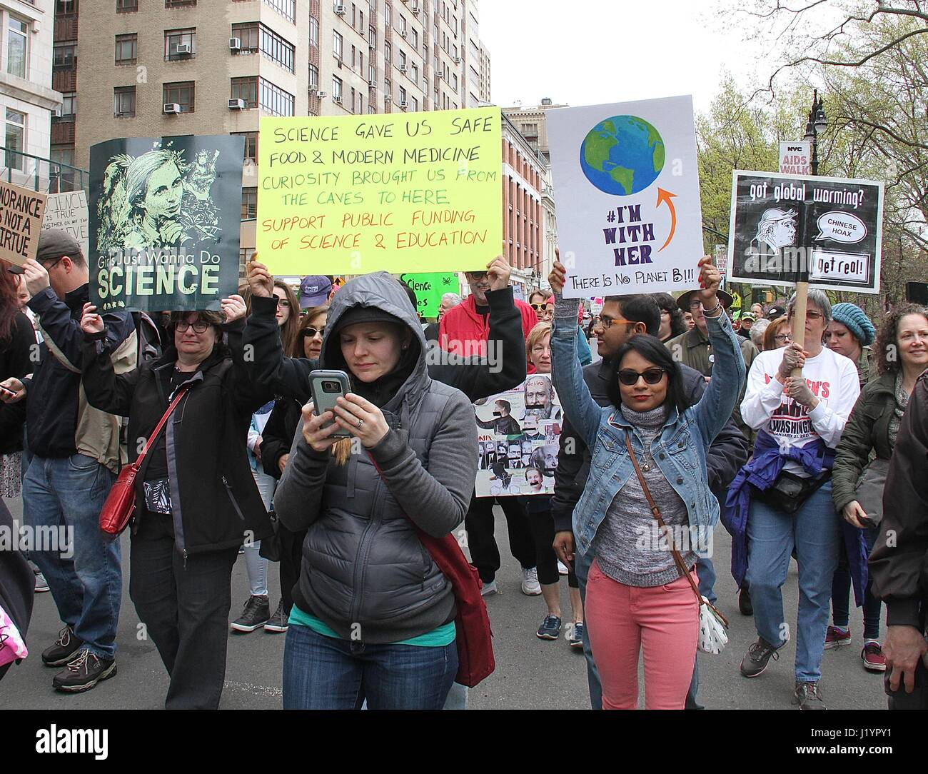 New York, NY, USA. 22nd Apr, 2017. Participants at the March for Science NYC on Earth Day in New York, New York Stock Photo
