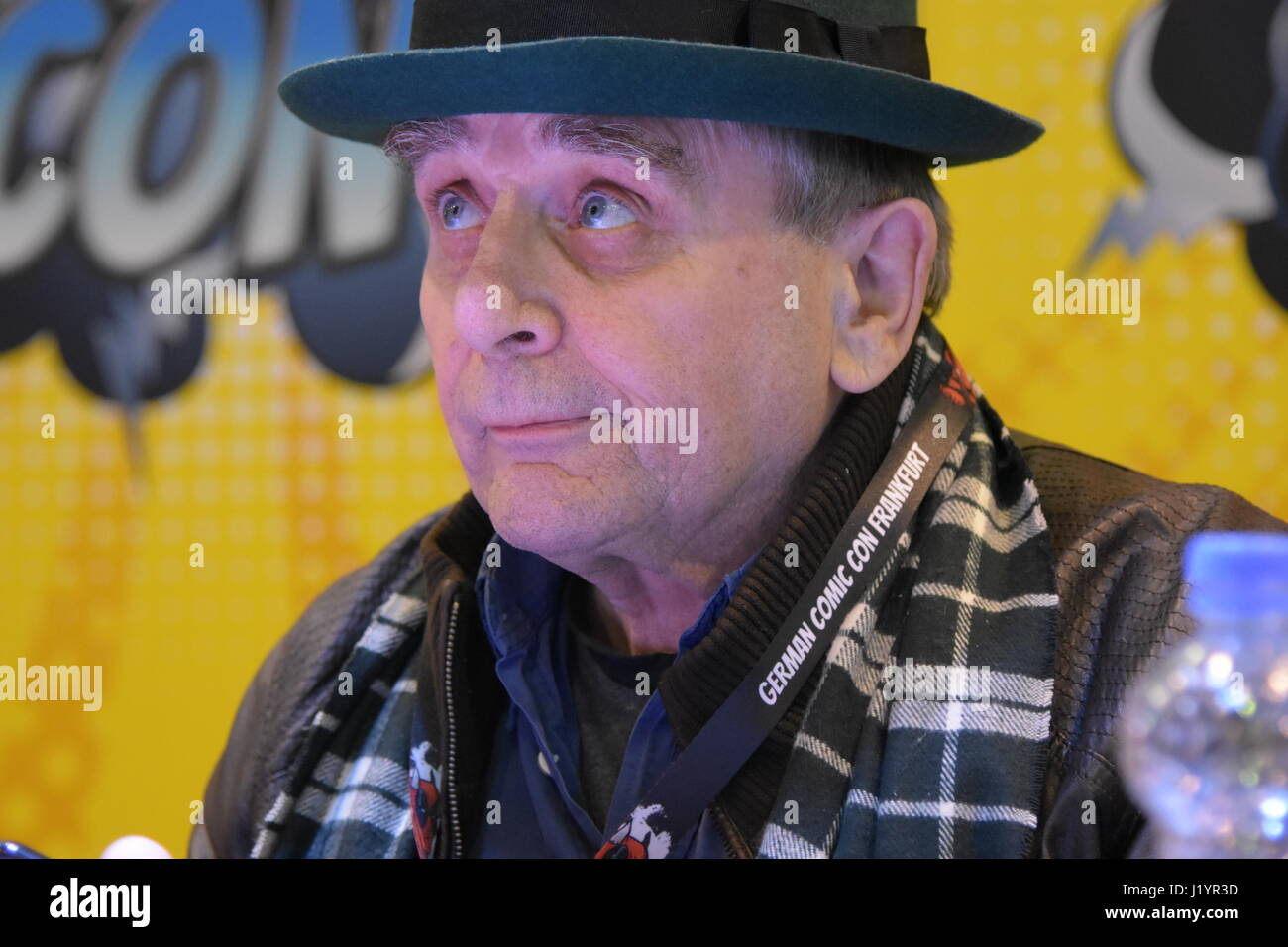 Frankfurt, Germany. 22nd April 2017. Sylvester McCoy (Doctor Who, The Hobbit) at the German Comic Con Frankfurt - Stock Image