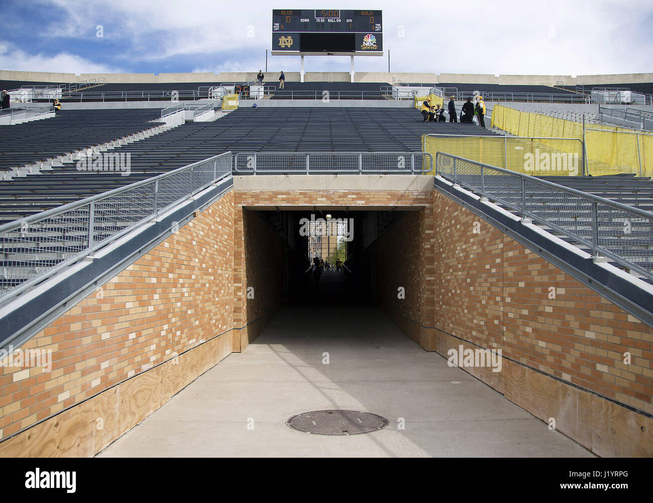 South Bend Indiana Usa 22nd Apr 2017 The New Tunnel At Notre Stock Photo Alamy