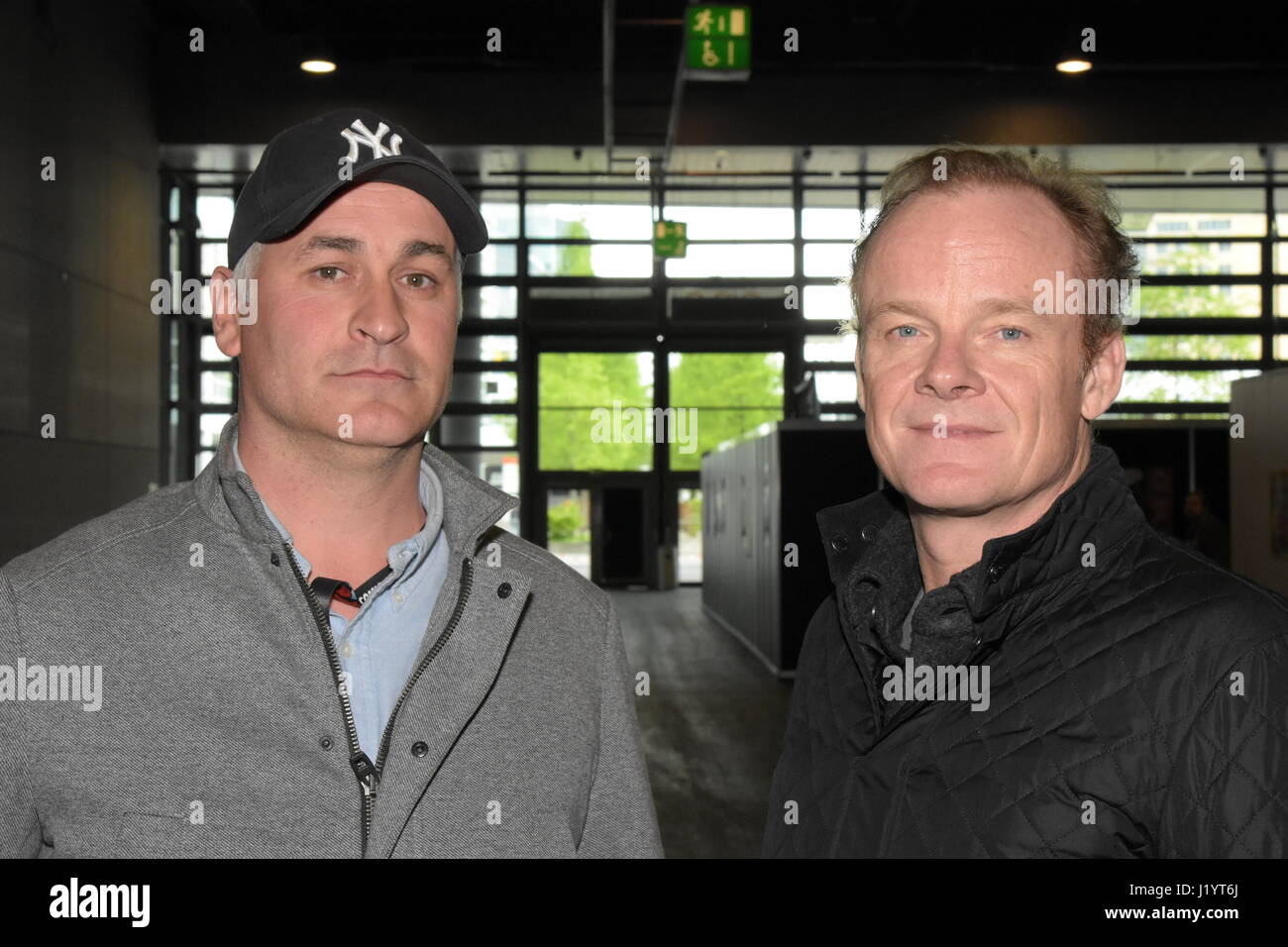 Frankfurt, Germany. 22nd April 2017. Daniel Naprous (Darth Vader in Star Wars: Rogue One), Alistair Petrie (Star Stock Photo