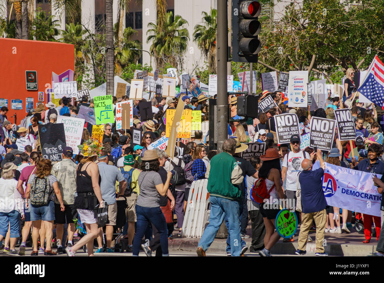 Los Angeles, USA. 22nd April, 2017. Special event - March for Science LA on APR 22, 2017 at Los Angeles, California Stock Photo