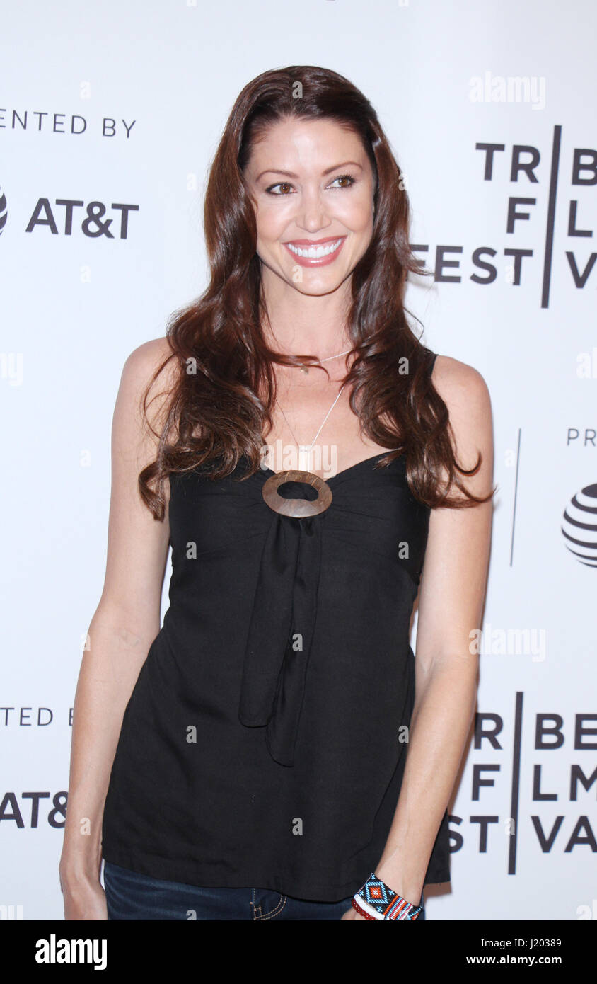 New York, USA. 22nd April, 2017. Shannon Elizabeth at the 2017 Tribeca Film Festival premiere of The Last Animals Stock Photo