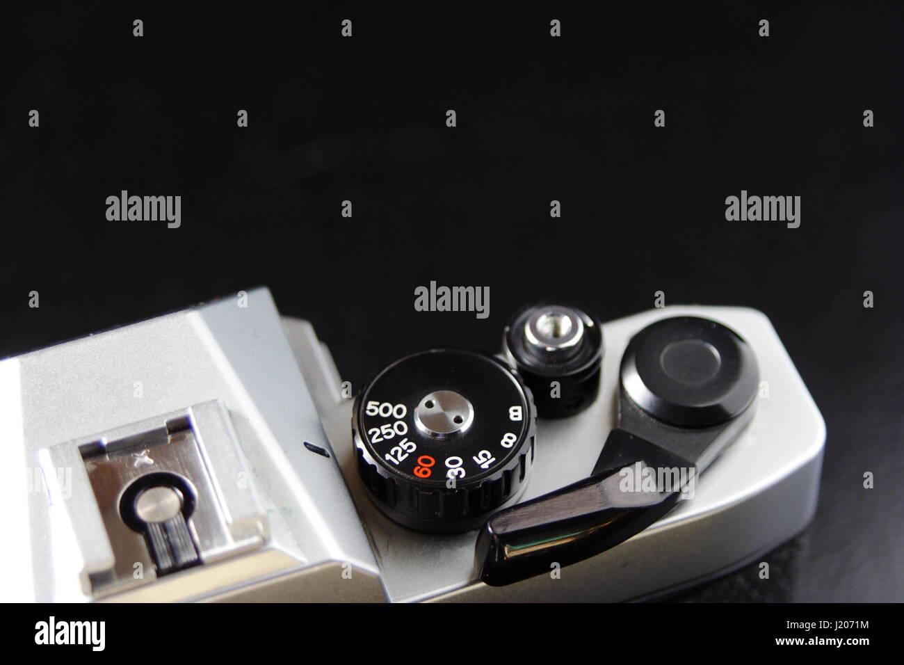 Manual Film Camera Controls - Stock Image