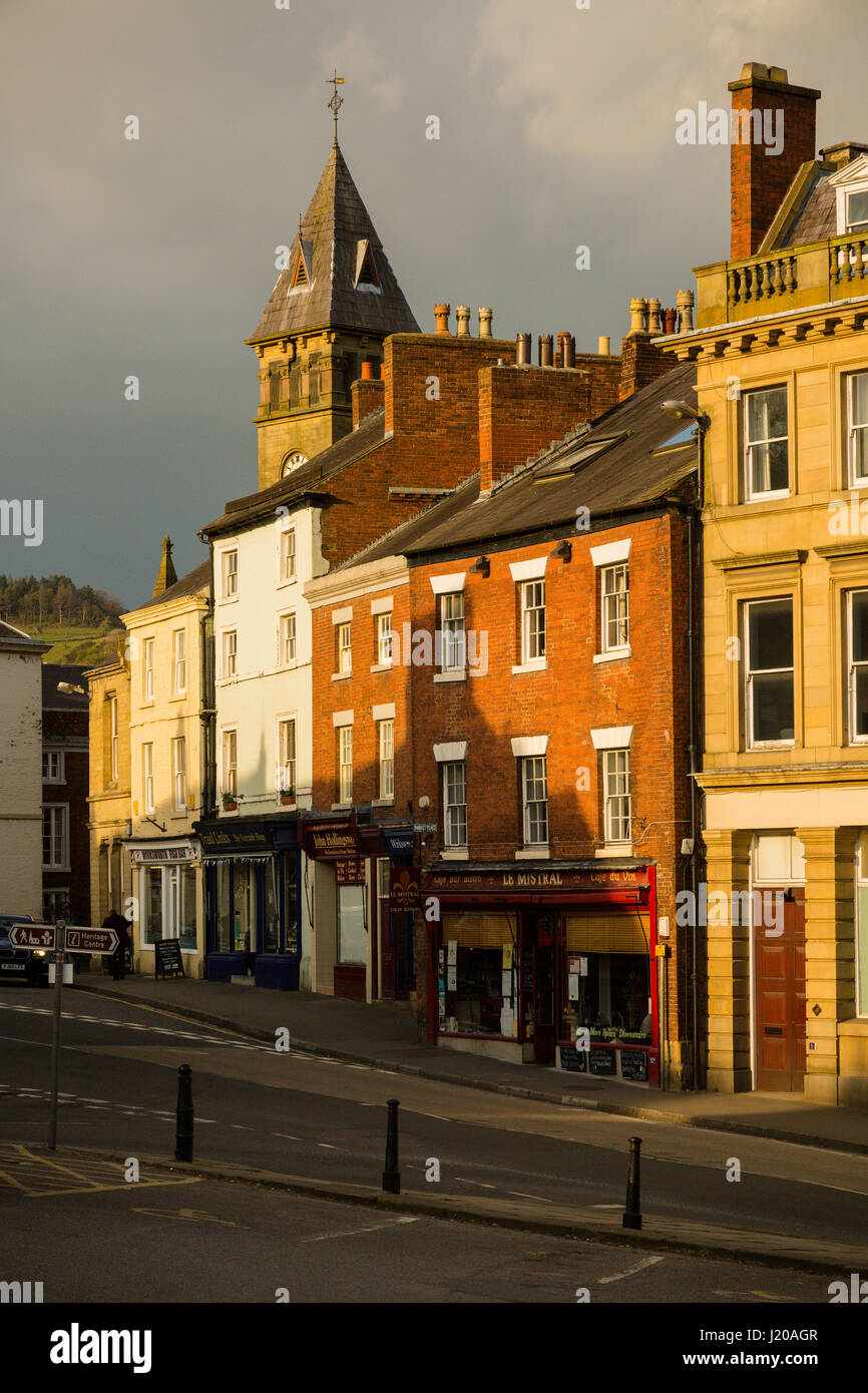 The town of Wirksworth in the Derbyshire Peak Dsitrict - Stock Image