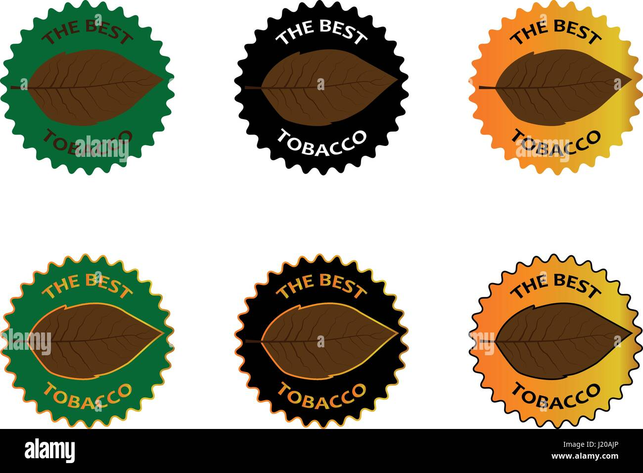 tobacco the best sticker - vector illustration - Stock Vector