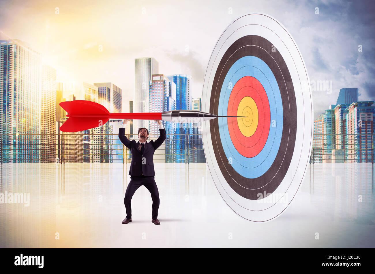 Aim the center - Stock Image