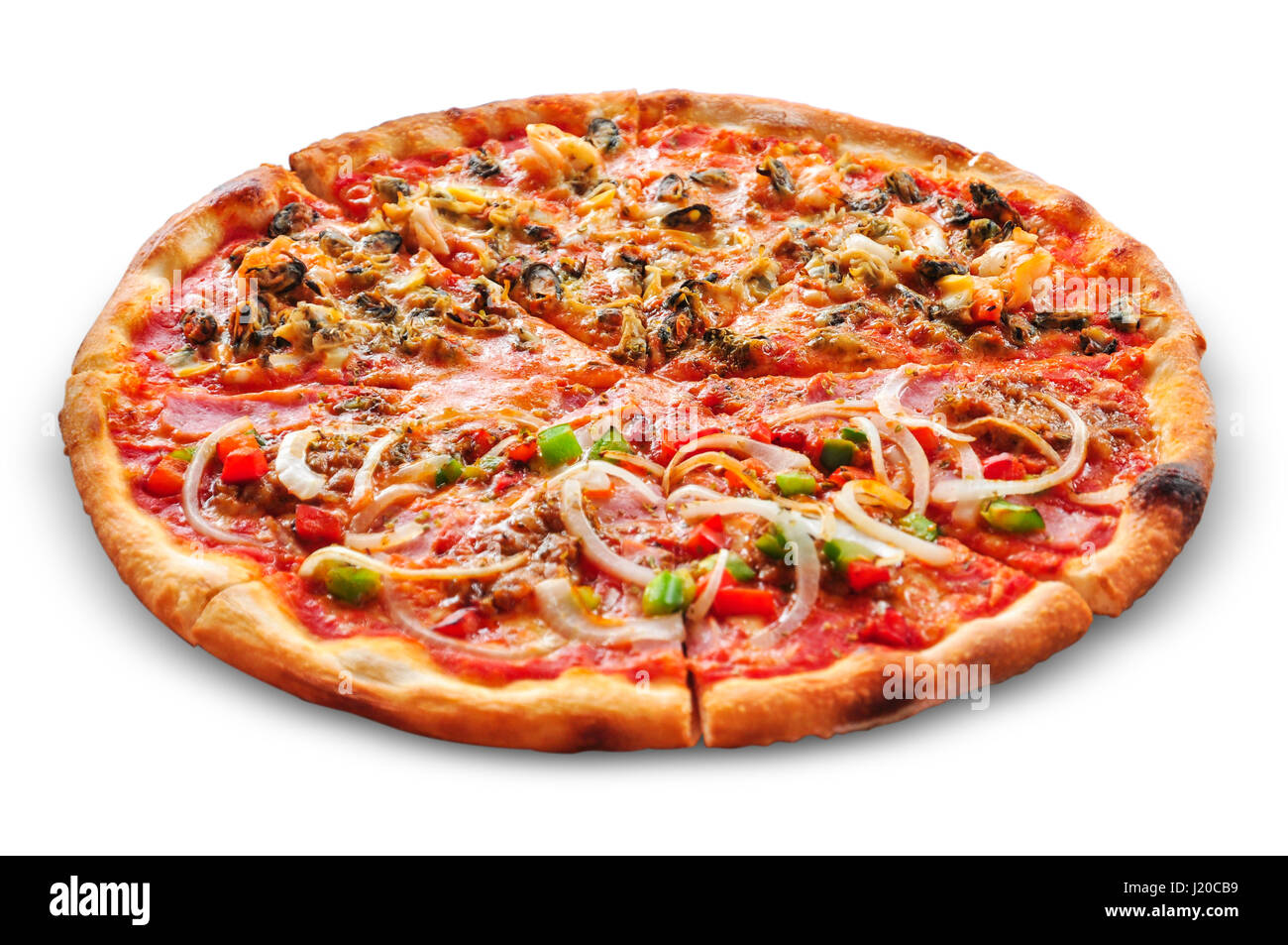 Half And Half Pizza Cut Out Stock Images & Pictures - Alamy