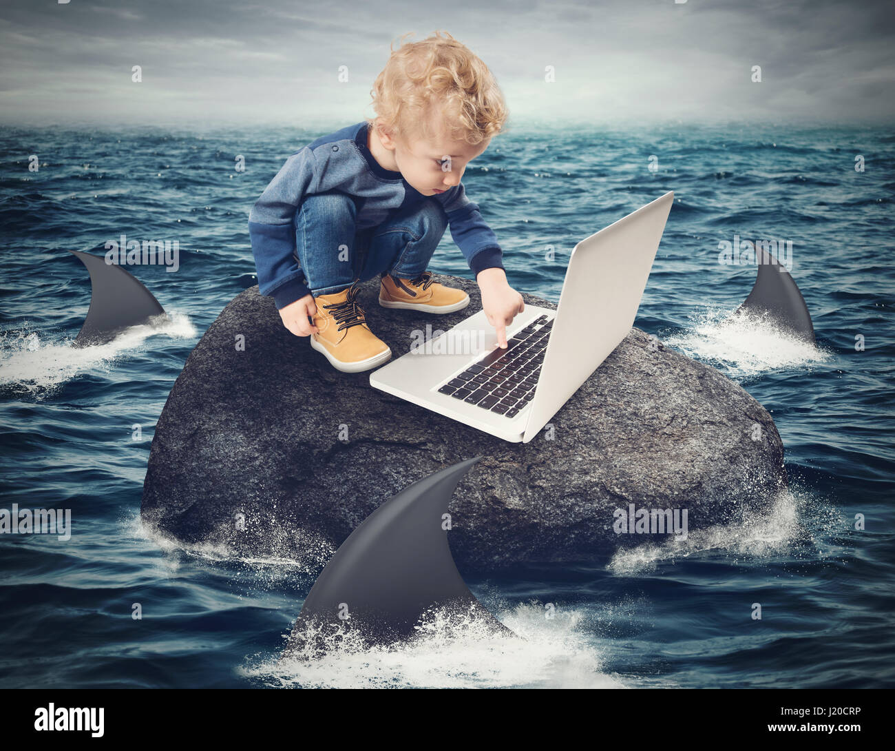 Difficulty Internet concept - Stock Image