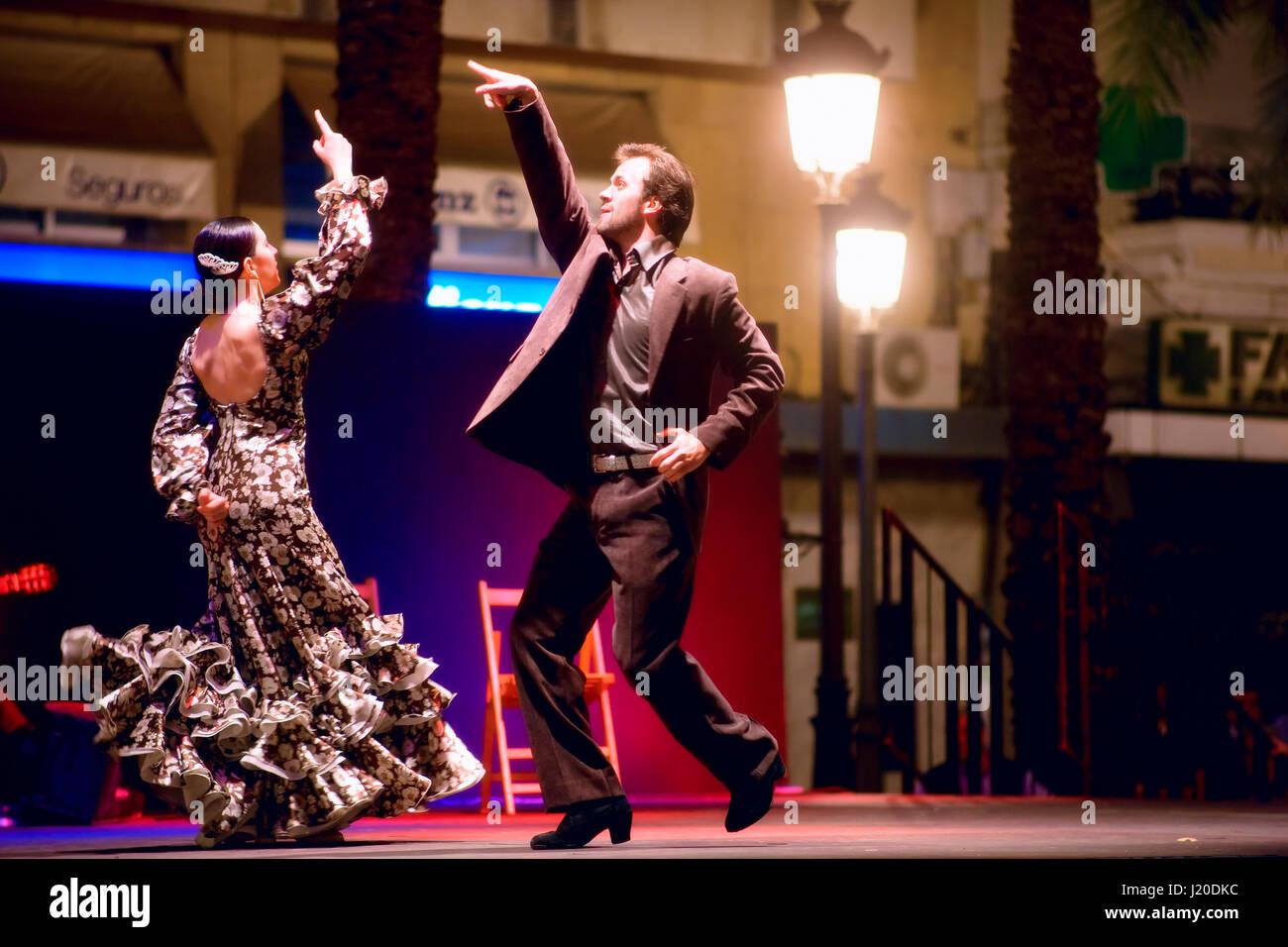 Flamenco dancer in Sevilla - Stock Image