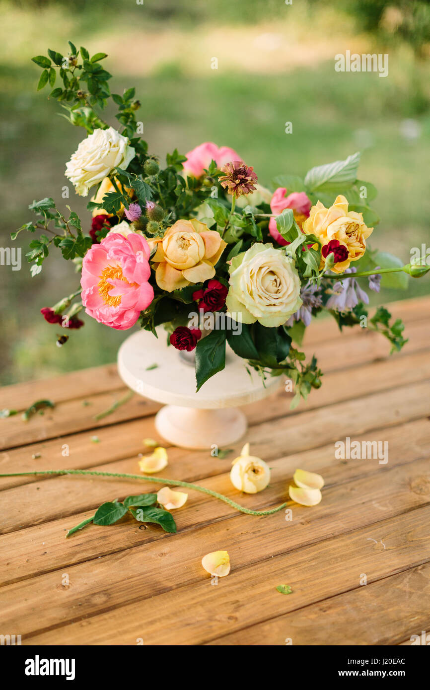 Bouquet Holidays Flower Gifts And Floral Arrangement Concept Stock