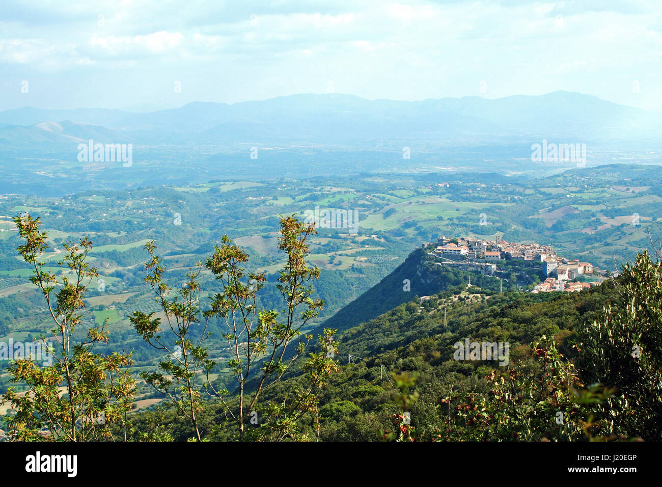 Landscape of St.Oreste from the summit of Mount Soratte in Italy - Stock Image
