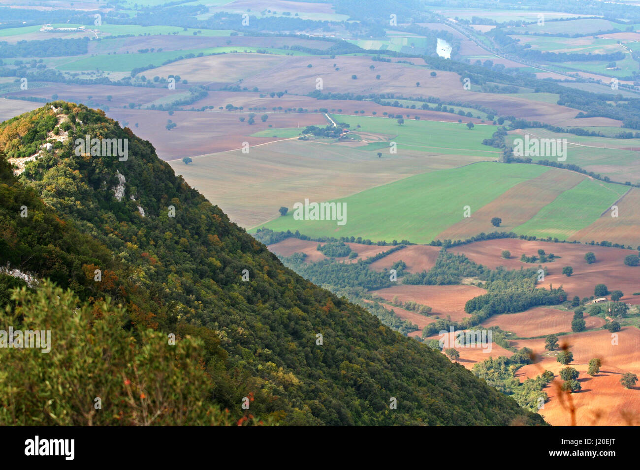 Landscape of the Roman countryside in italy - Stock Image