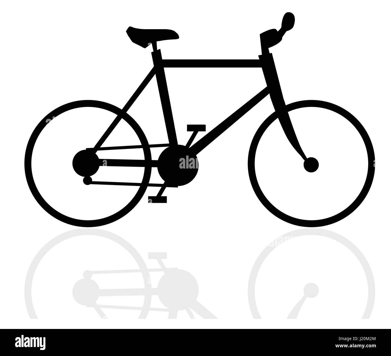 EPS 10 vector illustration of  velocipede on white background - Stock Image