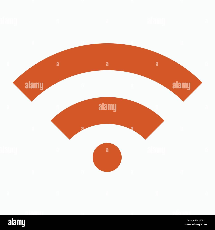 Wi FI flat design vector icon. - Stock Image