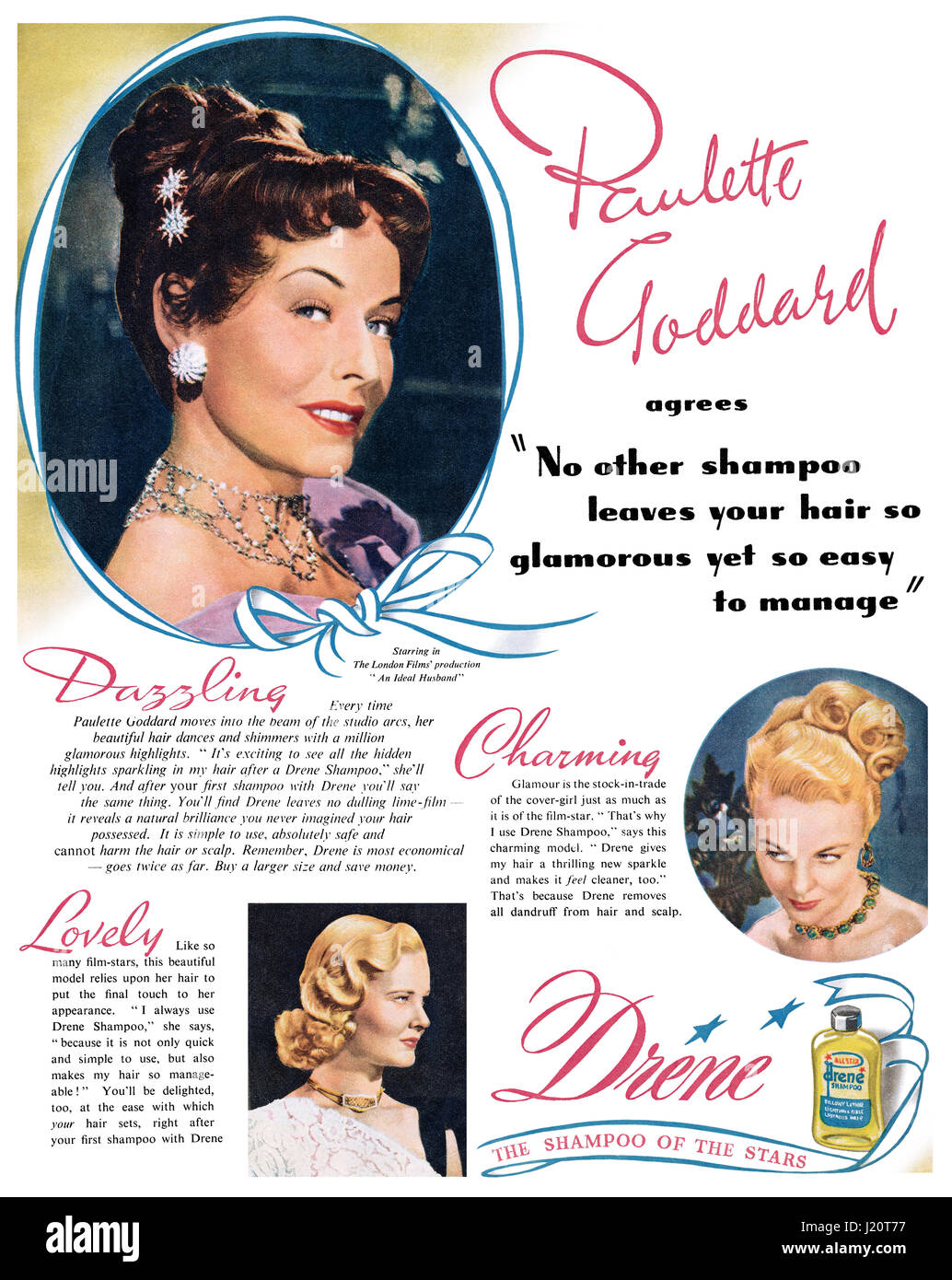 Shampoo Advertisement Vintage Stock Photos & Shampoo Advertisement