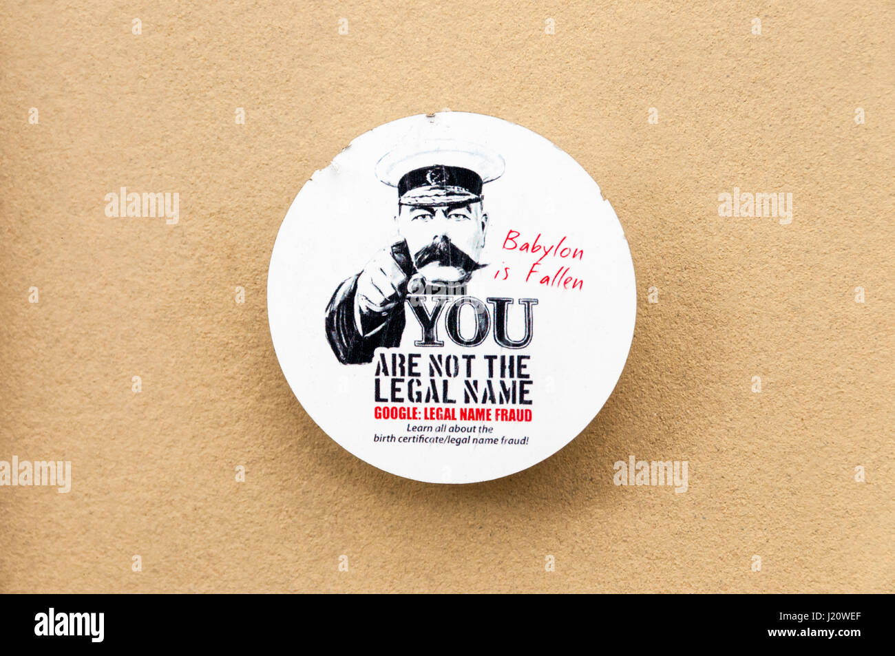 Legal Name Fraud sticker. SEE DETAILS IN DESCRIPTION. - Stock Image