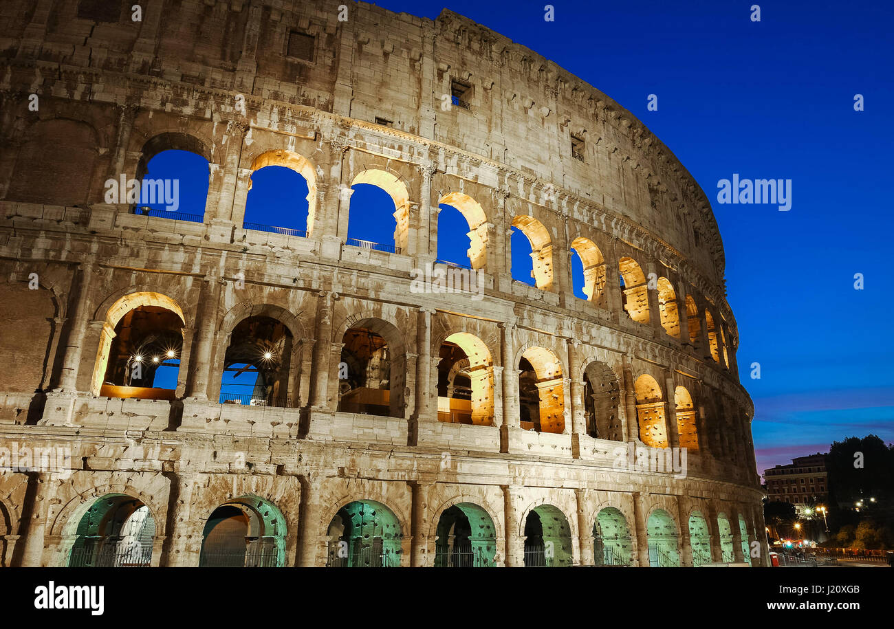 The famous Colosseum in Rome, Italy. - Stock Image
