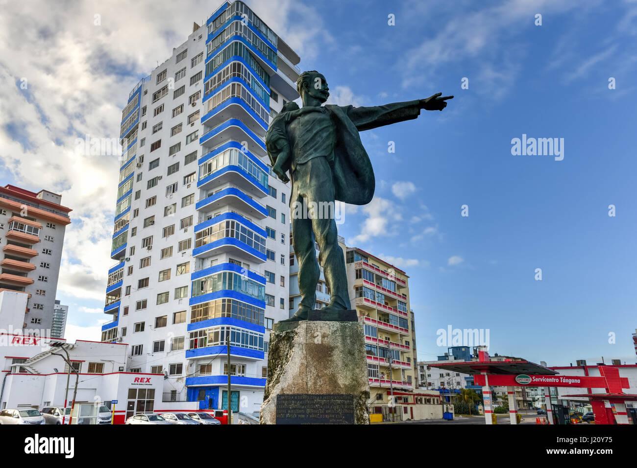 Havana, Cuba - Jan 15, 2017: Jose Marti Anti-Imperialist Platform across the street from the Embassy of the United - Stock Image