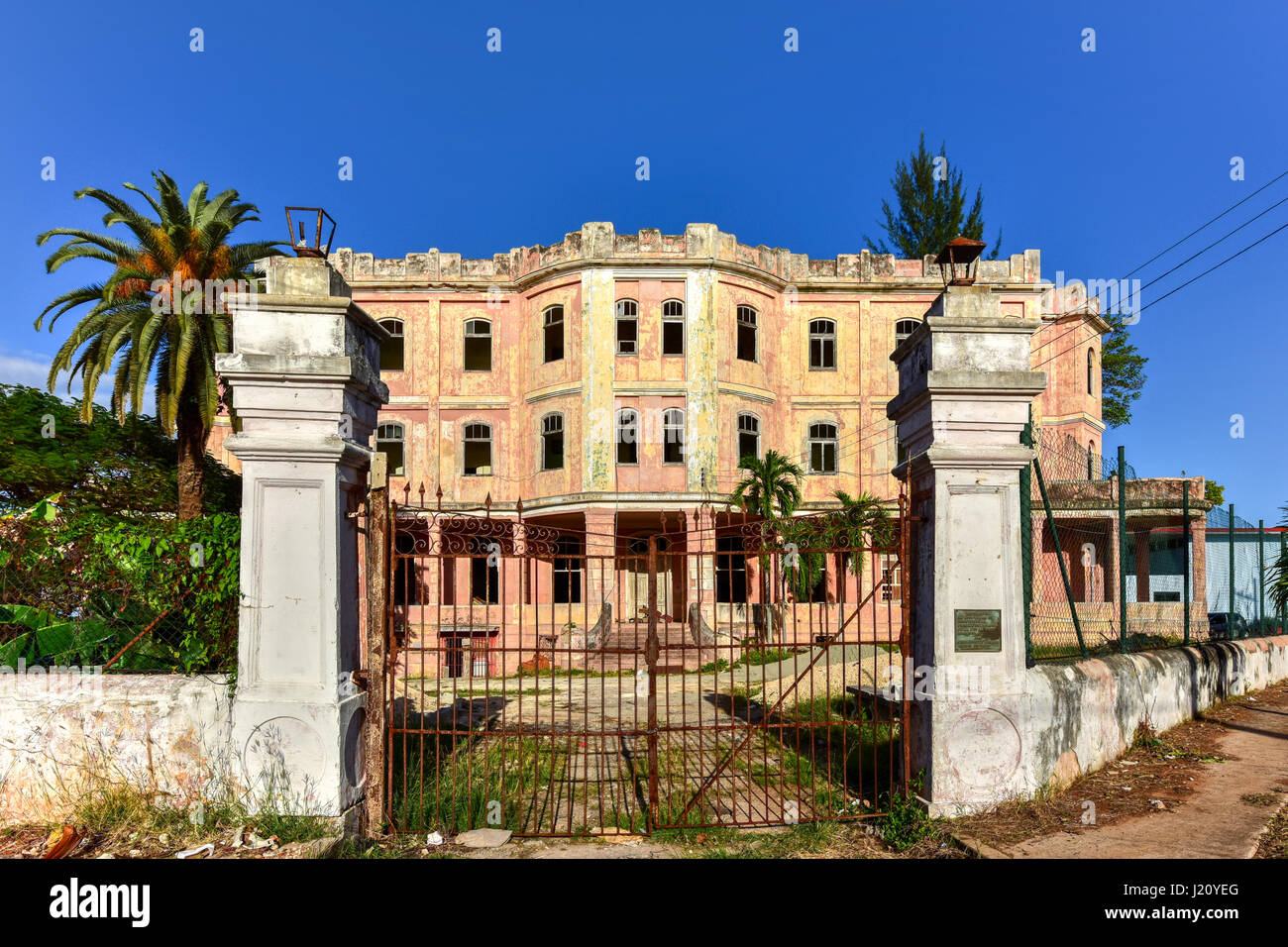 The Federation of Cuban Women (FMC) former building in Cojimar, Havana, Cuba. - Stock Image