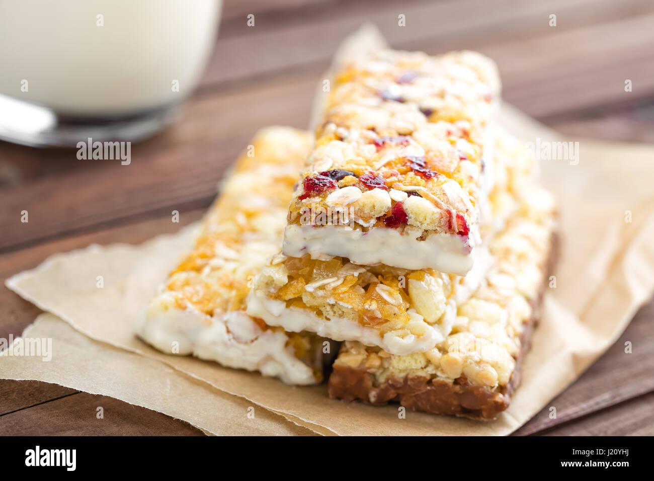 Delicious granola bars with oat honey and yogurt healthy food for delicious granola bars with oat honey and yogurt healthy food for breakfast homemade cereal snacks for healthy eating ccuart Image collections