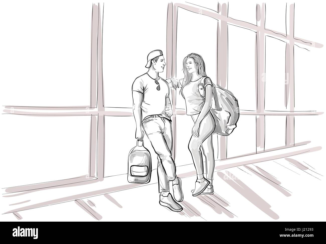 Line Art Couple : Ways to draw a couple holding hands wikihow