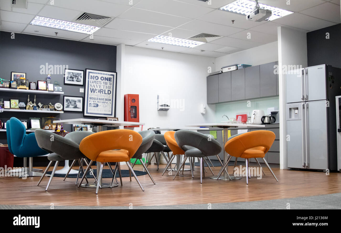 Office Eating Area - Stock Image