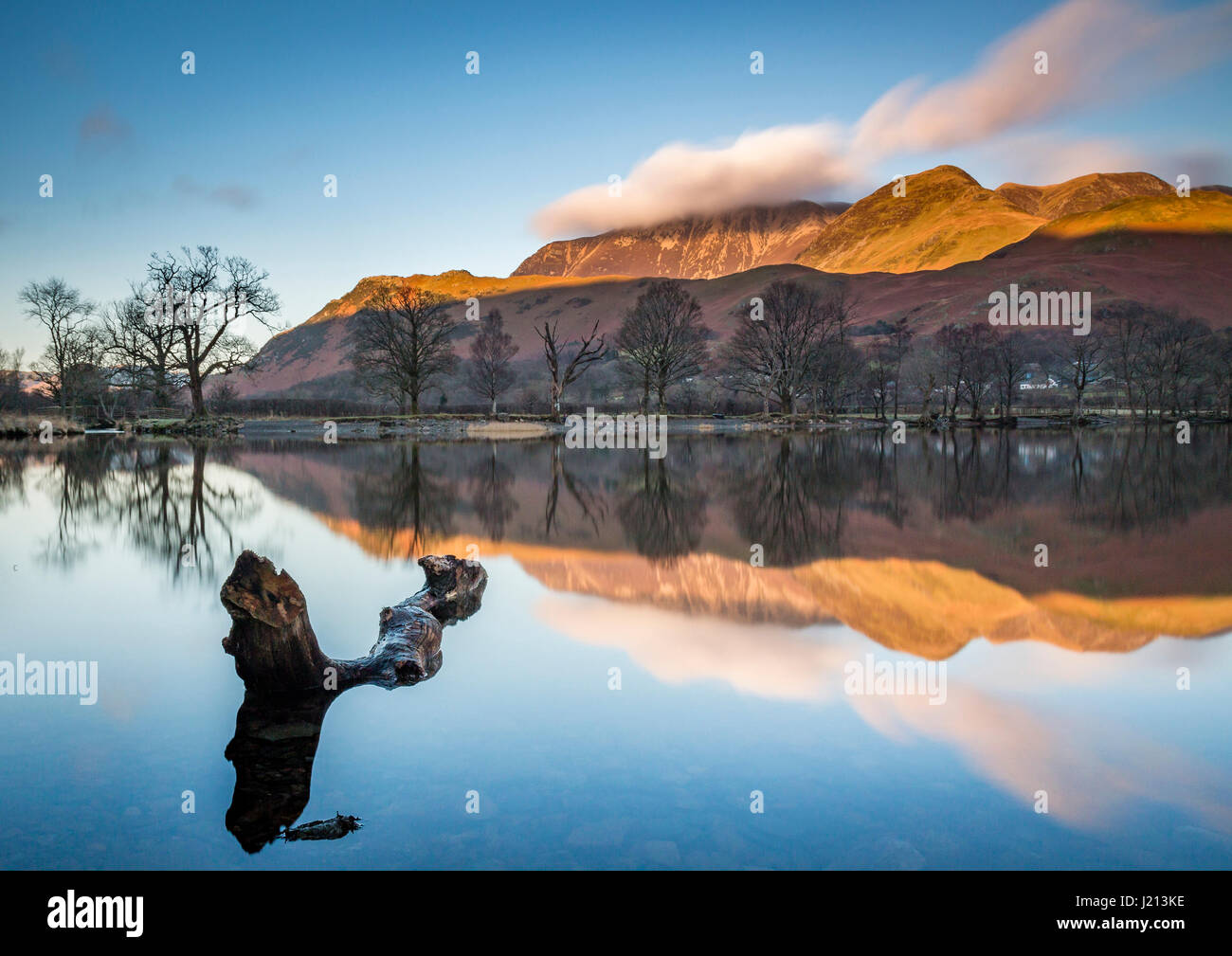 Buttermere reflections Stock Photo