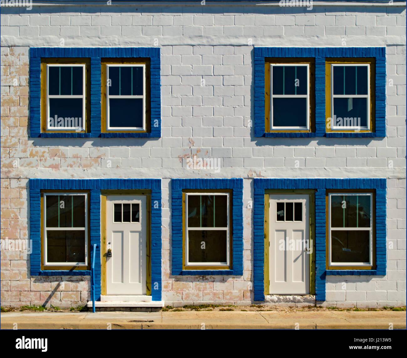 Cinder Block And Brick House   Stock Image