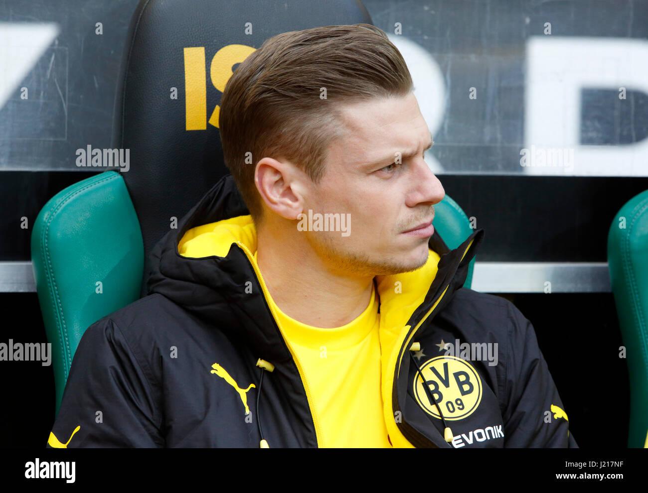 sports, football, Bundesliga, 2016/2017, Borussia Moenchengladbach vs Borussia Dortmund 2:3, Stadium Borussia Park, - Stock Image