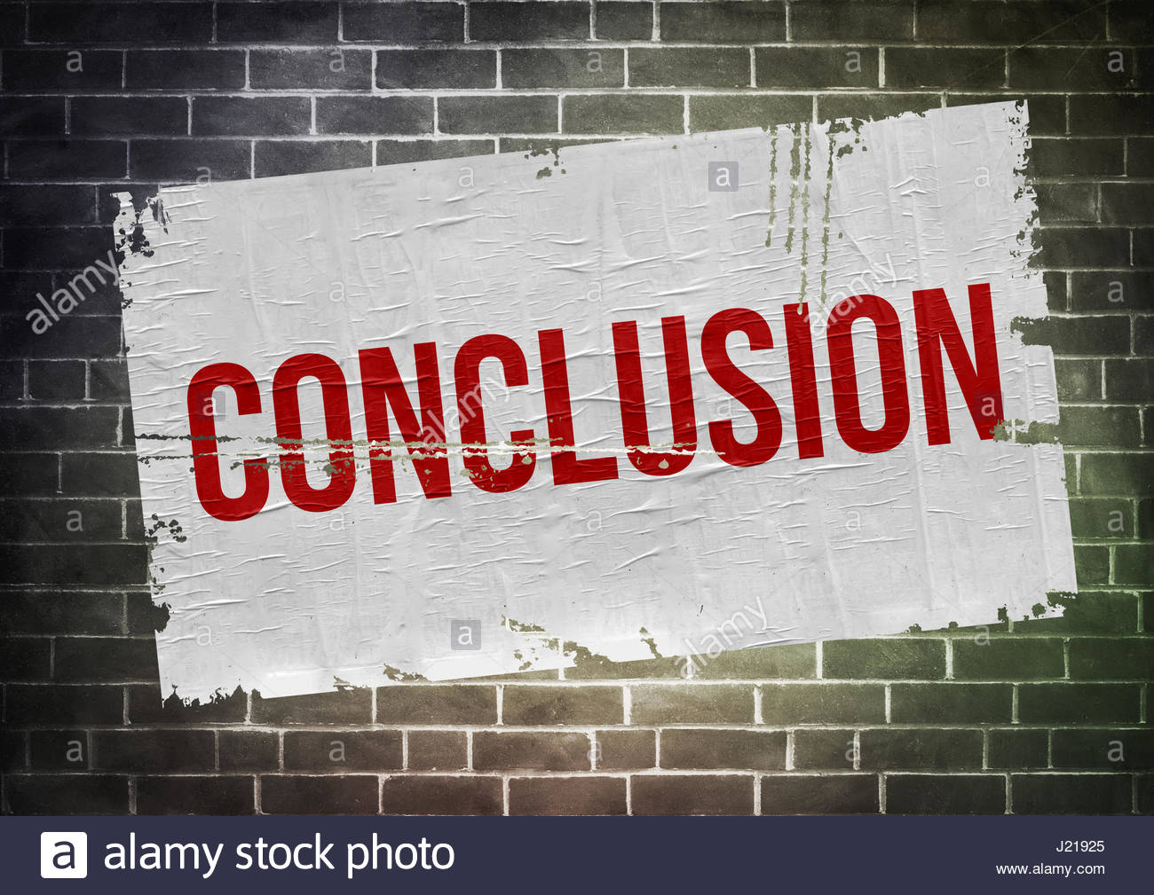 Conclusion - Stock Image