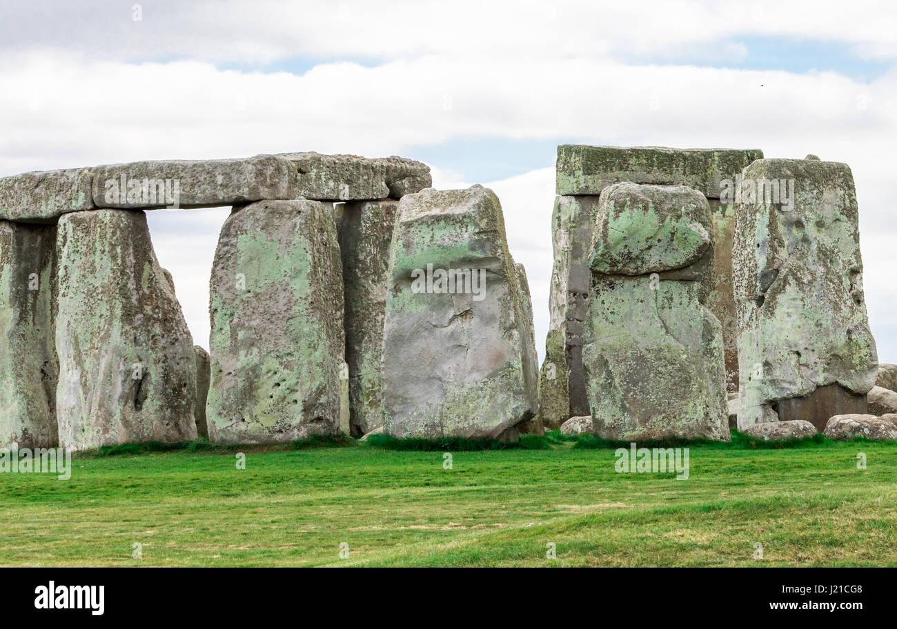 ancient Stonehenge in England, UK - Stock Image