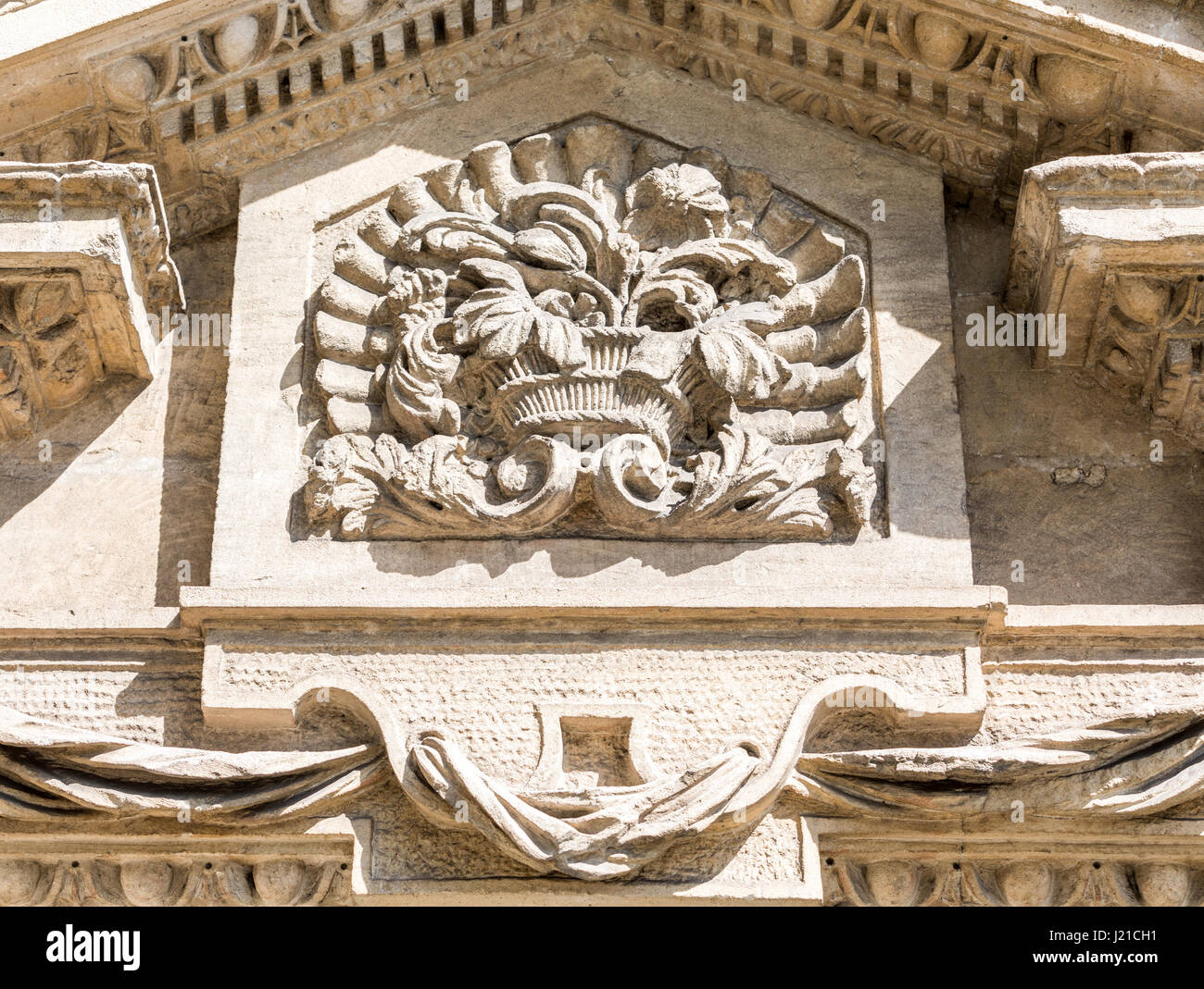 very old architectural detail in London, England, UK - Stock Image