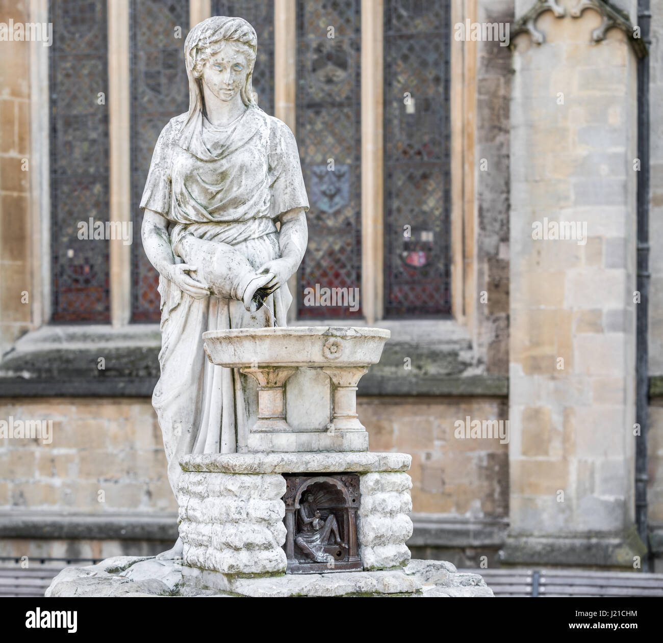 an old fountain in the city of Bath England, UK Stock Photo