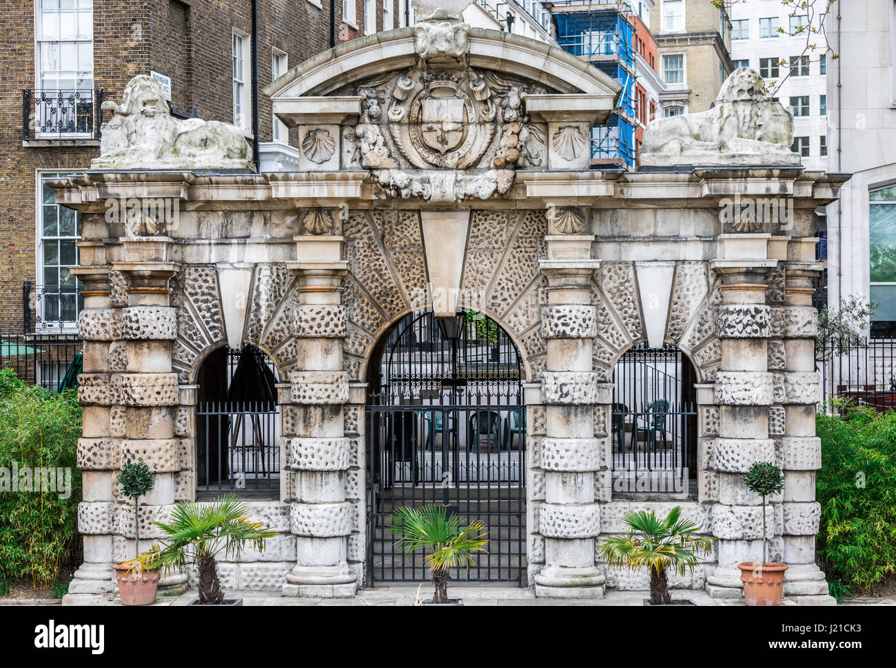 temple or elaborate gate in London - Stock Image