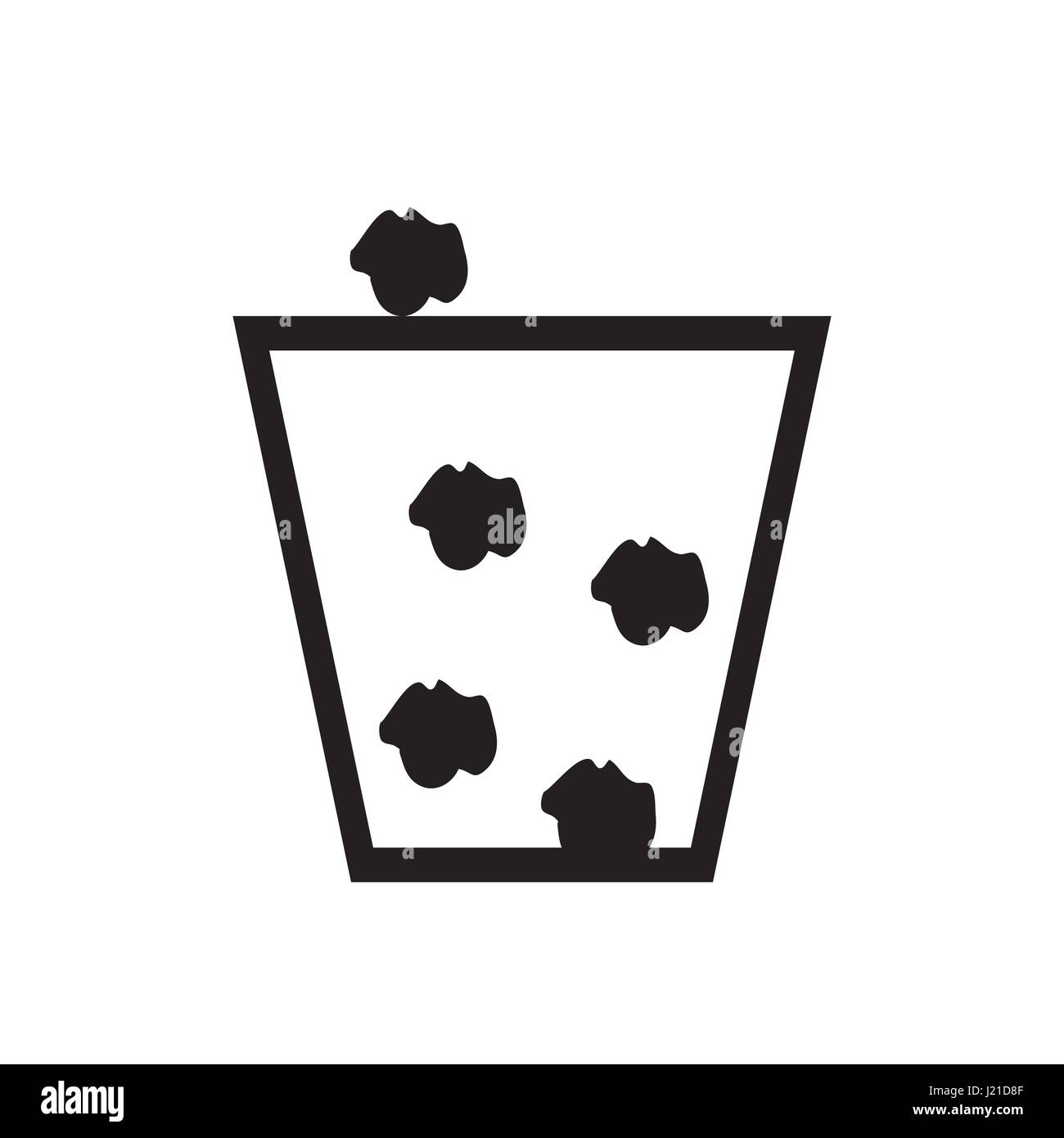 trash can icon - Stock Image