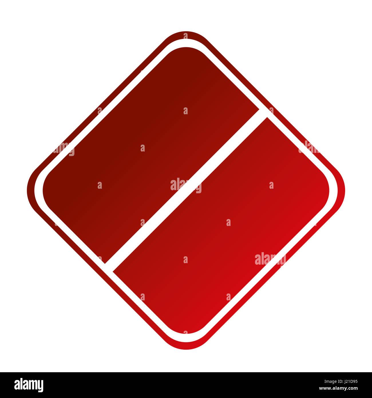 forbidden sign icon - Stock Image