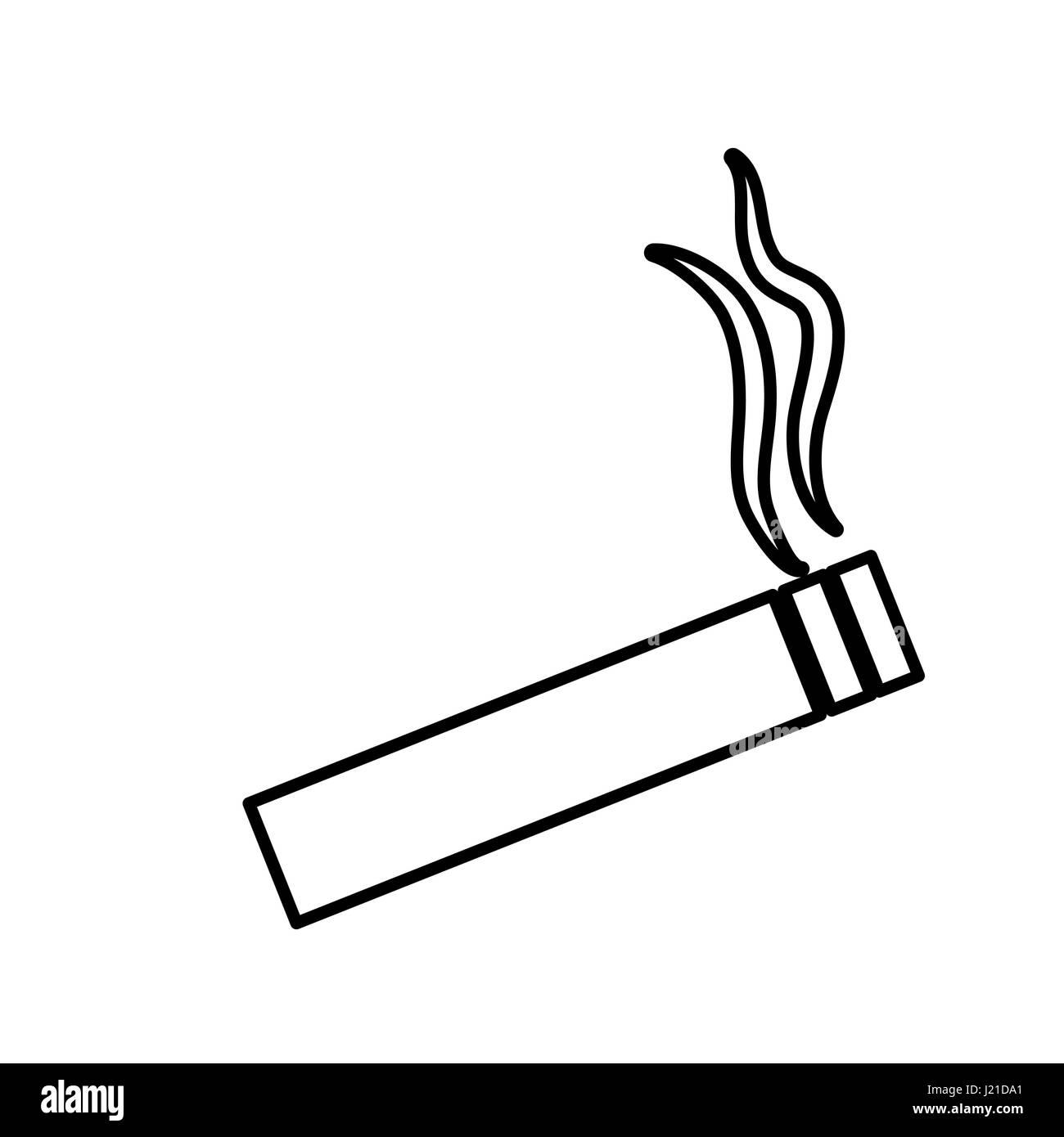 cigarette icon image - Stock Image