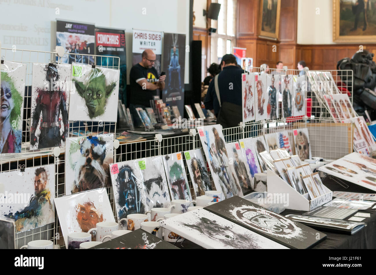 Oxford, Oxfordshire, UK. 23rd April 2017, 2nd OxCon comic con in Oxford. Credit: Stanislav Halcin/Alamy Live News Stock Photo
