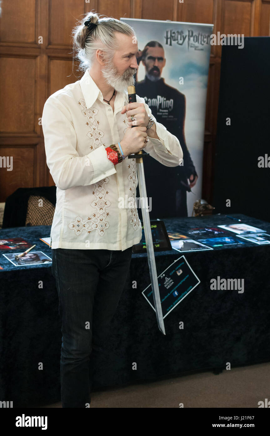 Jon Campling  at the 2nd OxCon comic con in Oxford. Credit: Stanislav Halcin/Alamy Live News - Stock Image