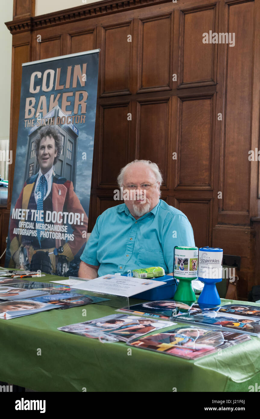 Colin Baker at the 2nd OxCon comic con in Oxford. Credit: Stanislav Halcin/Alamy Live News - Stock Image