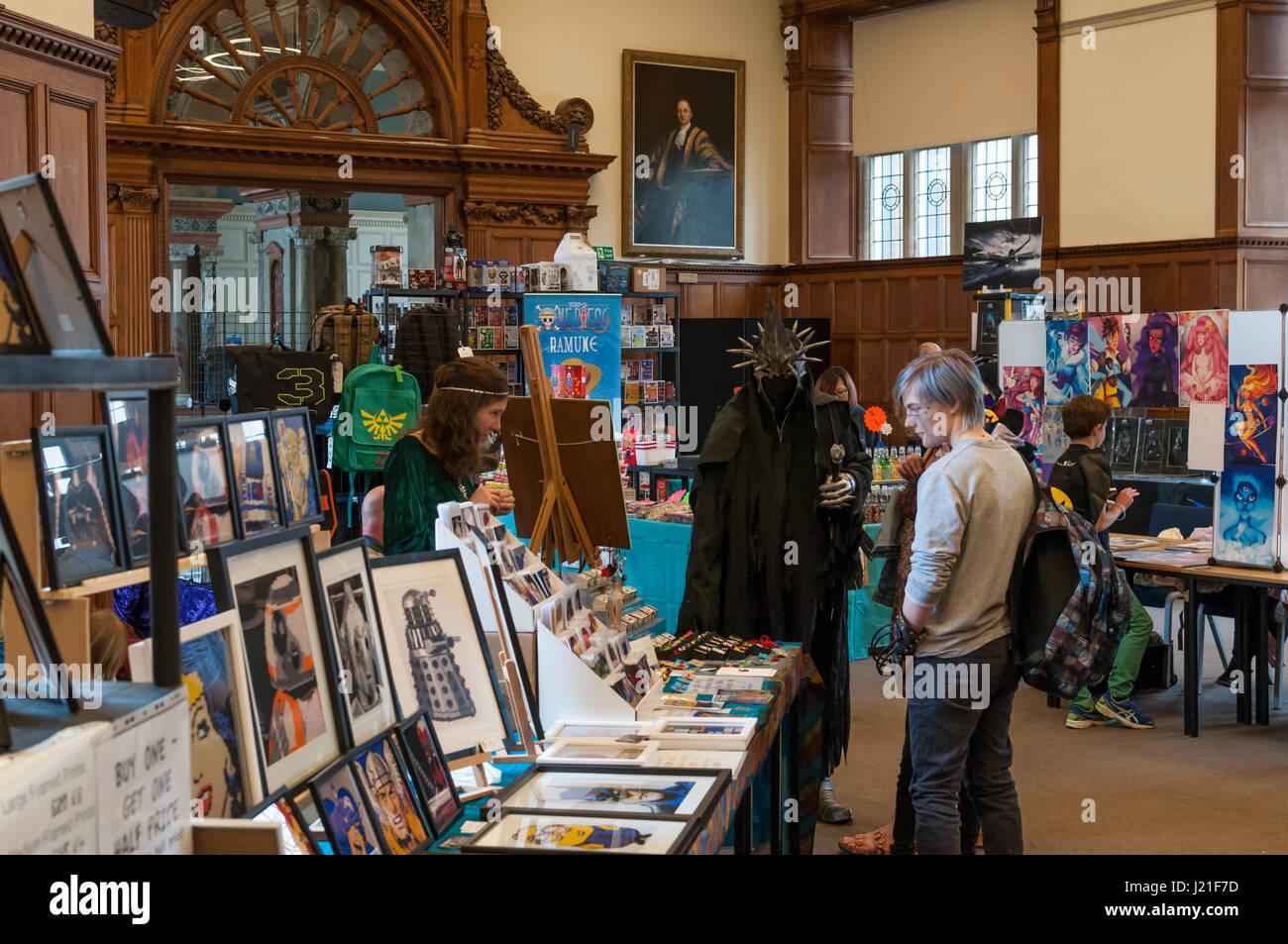Oxford, Oxfordshire, UK. 23rd April 2017, 2nd OxCon comic con in Oxford. Credit: Stanislav Halcin/Alamy Live News - Stock Image
