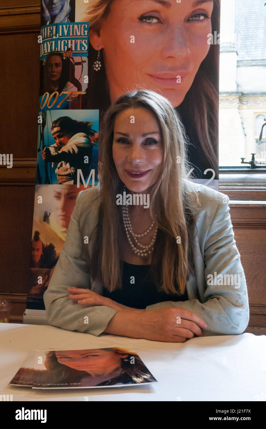Virginia Hey at the 2nd OxCon comic con in Oxford. Credit: Stanislav Halcin/Alamy Live News - Stock Image