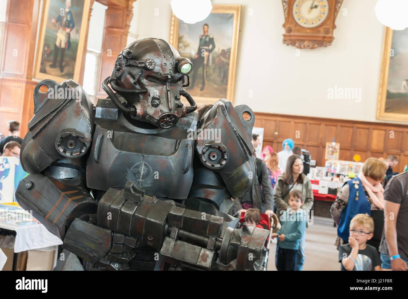 Oxford, Oxfordshire, UK. 23rd April 2017, 2nd OxCon comic con in Oxford. Credit: Stanislav Halcin/Alamy Live News Stock Photo