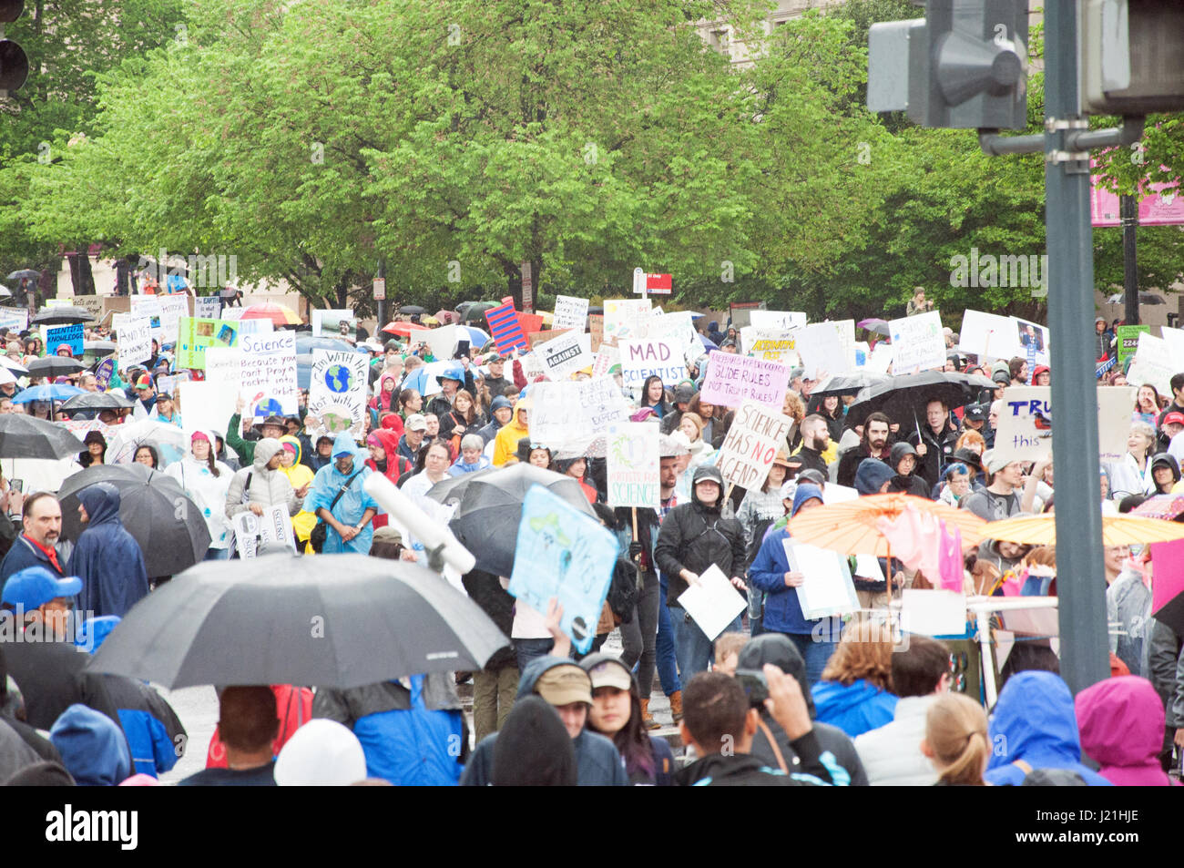 Washington DC, USA. 22nd April, 2017. Demonstrators participate in the March for Science. Kirk Treakle/Alamy Live Stock Photo