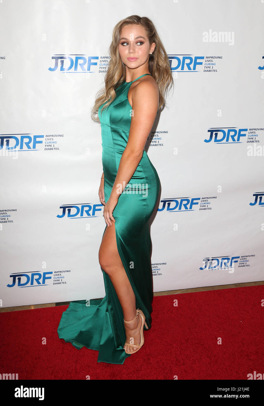 Beverly Hills, CA, USA. 17th Jan, 2017. 22 April 2017 - Beverly Hills, California - Brec Bassinger. JDRF LA Chapter's Stock Photo