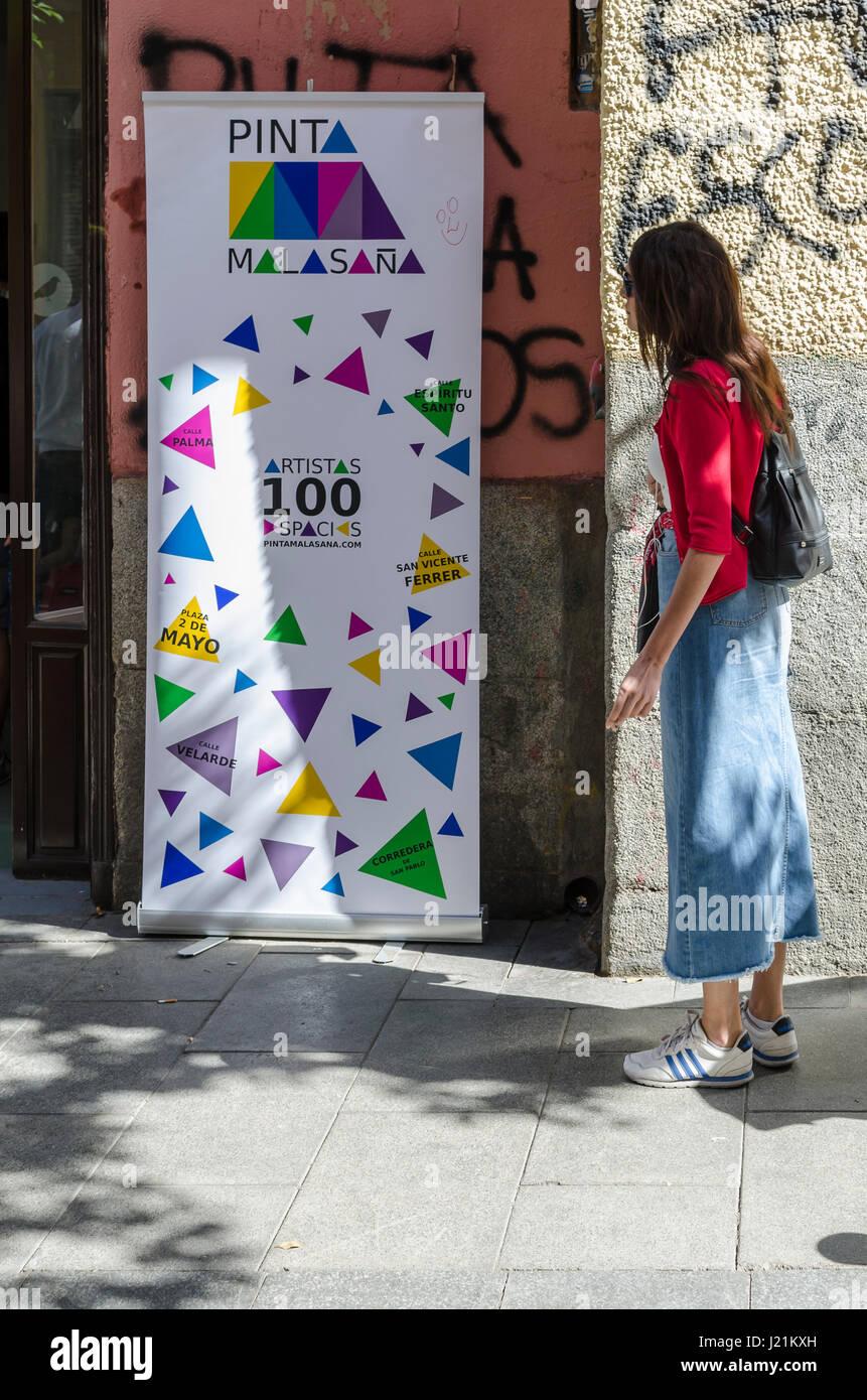 Street Art Malasana Madrid Spain Stock Photos Street Art Malasana