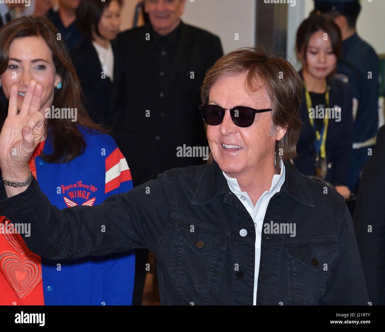 23rd Apr 2017 Paul McCartney Tokyo Japan April 23 Sir Arrives At International Airport In On